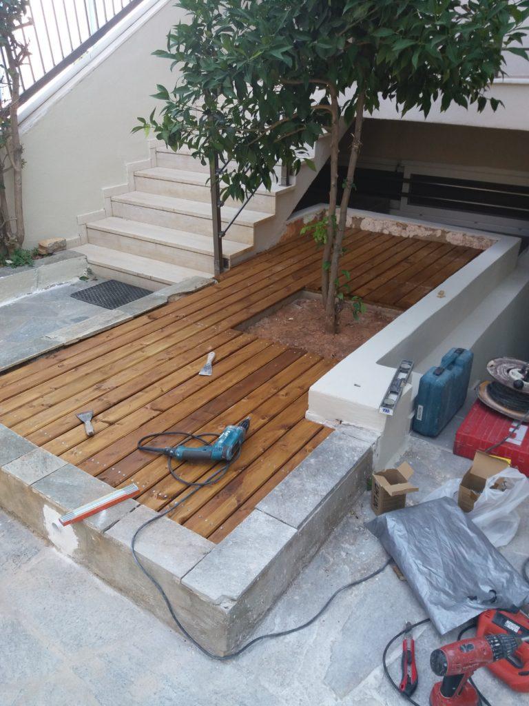 Ανακαίνιση κατοικίας κατασκευή ξύλινου deck