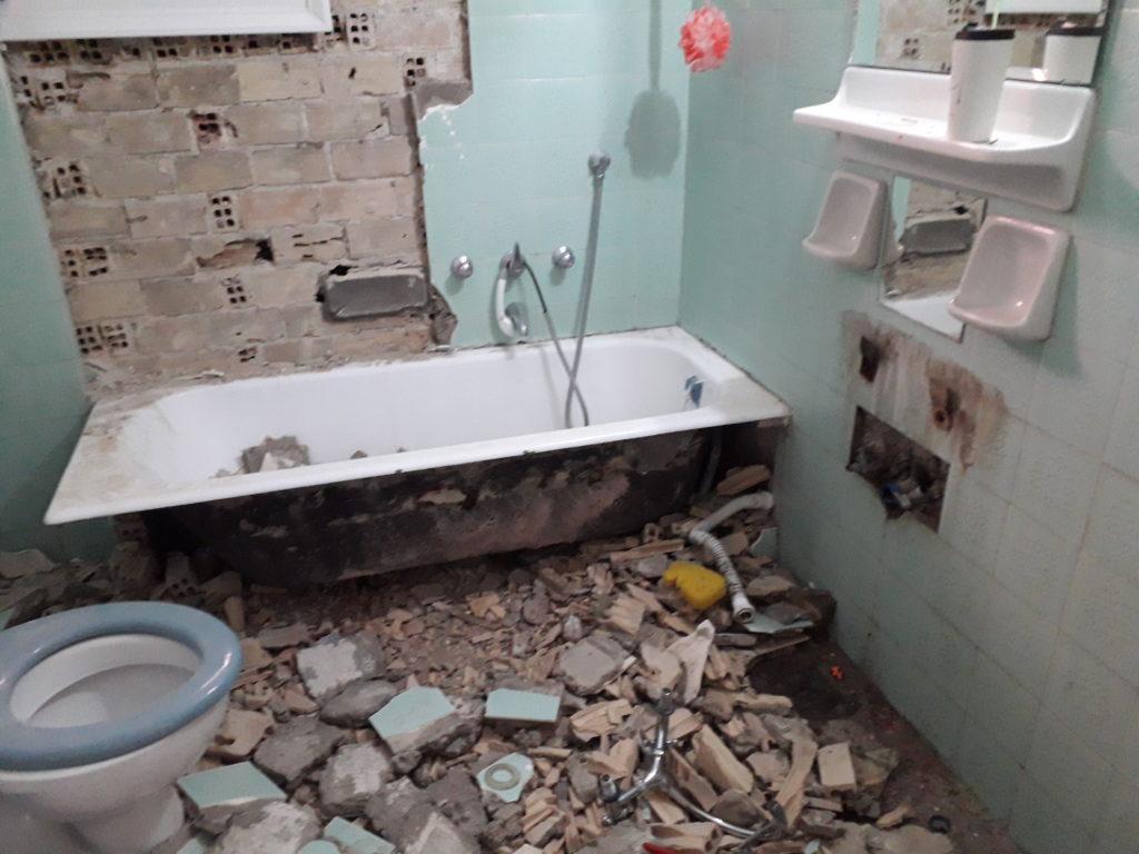 ανακαίνιση μπάνιου πριν
